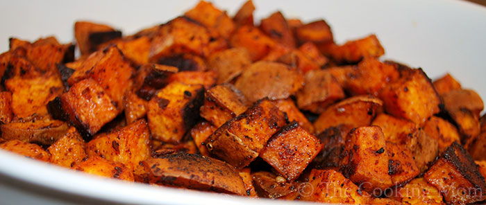 Chipotle Roasted Sweet Potatoes - The Cooking Mom