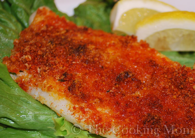 Crispy oven baked fish the cooking mom for Fish in foil in oven